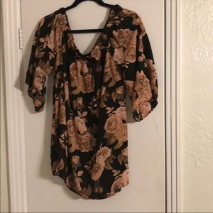 Rue 21 off the should floral blouse xl